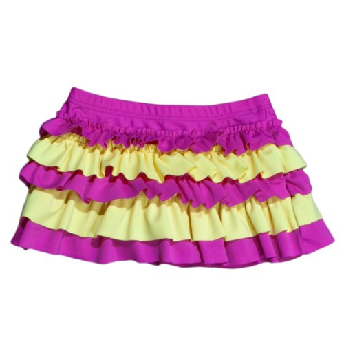 Baby Banz Little Girls'  UV Swim Skirt, Yellow Blossom, 2 by Baby Banz
