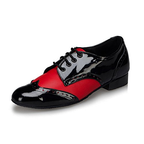 Meijili Salsa Red M108 Doris Shoes Ballroom Leather Tango Men's Social Latin Dance wRwrx1nOa