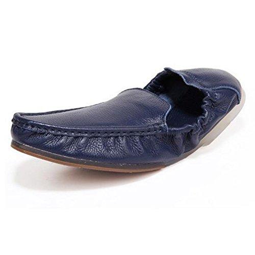 良性電卓受け取る[QIFENGDIANZI]メンズシューズ レースアップ カジュアルシューズ 紳士靴 滑り止め 快適な履き心地 通気性抜群 かっこいい お洒落 通勤用 黒 白 オレンジ ブルー