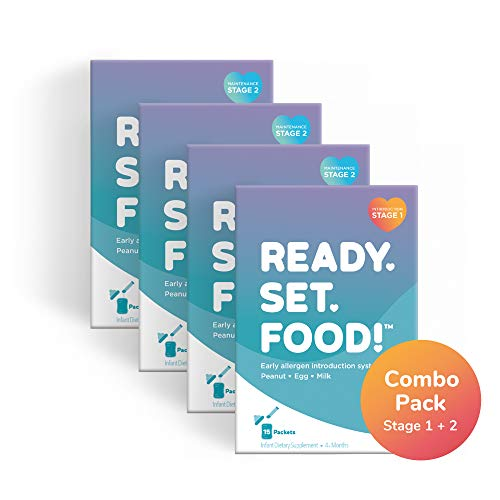 Ready, Set, Food! Early Allergen Introduction for Babies, Peanut, Egg & Milk: Stage 1 & 2, 105 Day Combo Pack