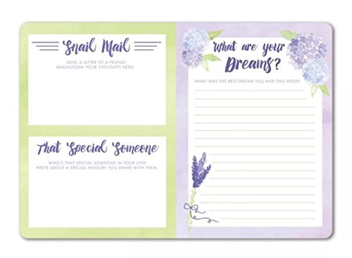 Punch Studio Favorite Things Guided Soft Cover Journal, Lavender Floral 75919 by Punch Studio (Image #3)