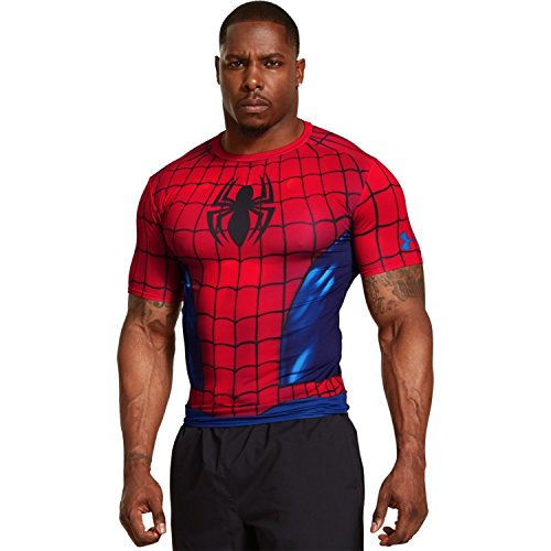 Under Armour Men's Alter Ego Compression T-Shirt - (Red/Royal, XX-Large)