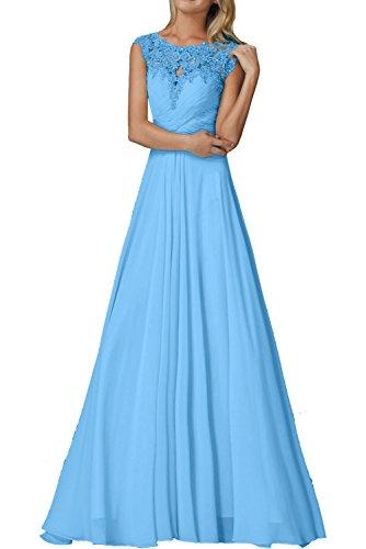 Kleider Spitze Jugendweihe Elegant mia Rosa Braut Blau La Festlichkleider Lang Mit Chiffon Ballkleider Abendkleider 8z7Rx