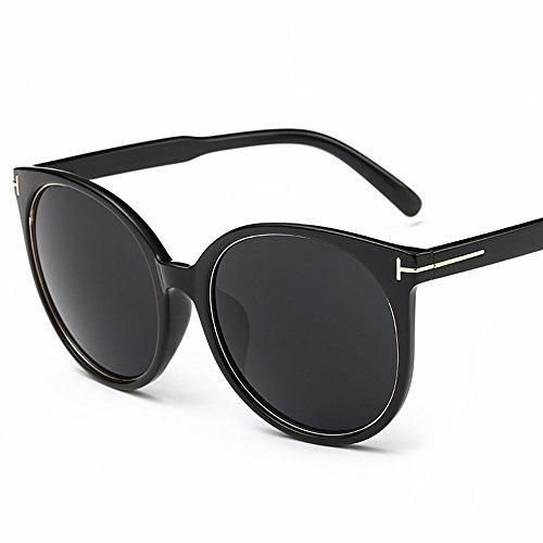 cara XIAOGEGE Negro personalidad Las sol Gris Cristal y con reflectantes de estilo redonda gafas gafas sol de vidrios sombreada de SPrCHSd