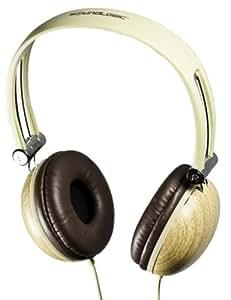 SoundLogic Wooden Stereo Headphones Light Brown