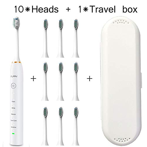 31000 times/min Electric Toothbrush with Travel box heads10 USB Charging Oral Hygiene timer Tooth brush Electric,10headswt