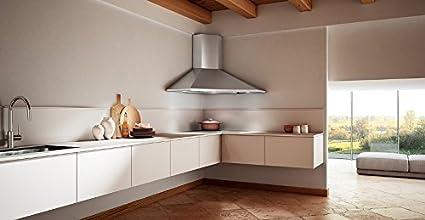 Faber – Campana extractora con ángulo Solaris acabado acero inoxidable de 100 cm: Amazon.es: Hogar