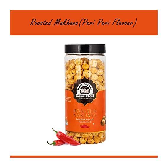 WONDERLAND FOODS (DEVICE) Roasted Makhana Peri Peri Foxnuts , 100 g