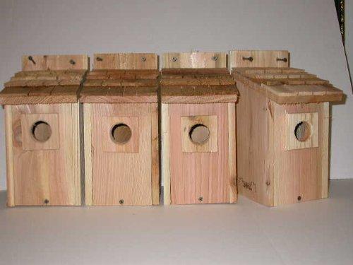 Cedarnest 4 Bluebird House with Cedar Shake Roof