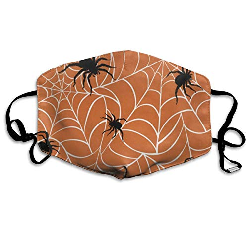 Face Mask Halloween Spiders On Webs Fabulous Cycling Half Face Earloop Ski Mask for Man