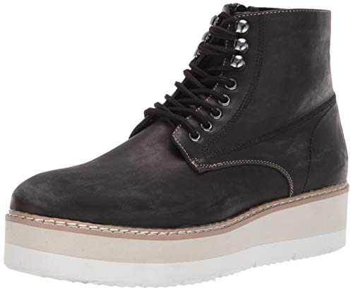 (Steve Madden Men's SELF Made SAYNE Ankle Boot, Black Leather, 13 M US)
