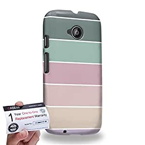 Case88 [Motorola Moto E (2nd Gen)] 3D Printed Snap-on Hard Case & Warranty Card - Art Coloured Doodle Patterns Pastel Palette