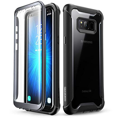 wholesale dealer fcde1 aecfc Samsung Galaxy S8 case, i-Blason [Ares] Full-Body Rugged Clear Bumper Case  with Built-in Screen Protector for Samsung Galaxy S8 2017 Release (Black)  ...