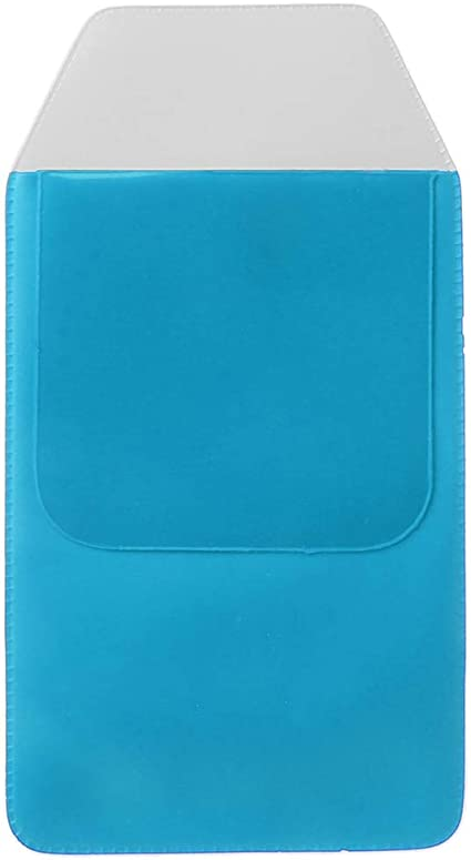 JENOR - 5 bolsas de PVC para bolígrafos, estuche, protector de bolsillo, para oficina, hospital, médico, enfermera, suministros, color azul: Amazon.es: Oficina y papelería