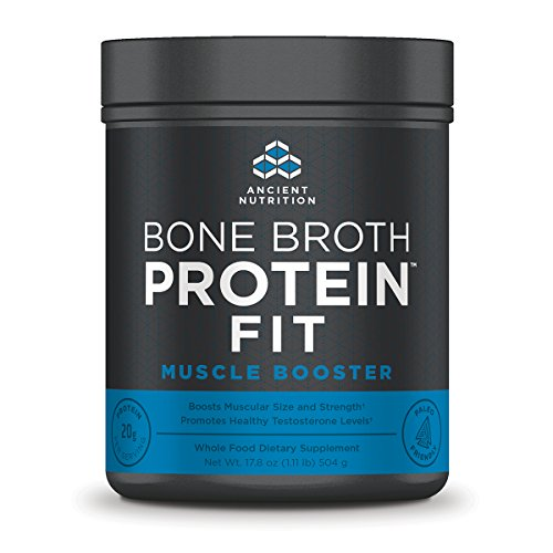 Ancient Nutrition Bone Broth Protein FIT Muscle Booster- Boosts Muscle Size and Strength (20 Servings) by Ancient Nutrition