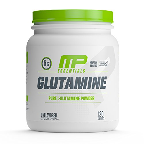 MP Essentials 100% Pure Glutamine Powder, Muscle Growth and Recovery, L-Glutamine Powder, Promotes Recovery after Intense Exercise, Helps Repair Muscles, MusclePharm, 300 g, 120 Servings