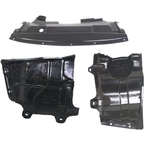 Engine Splash Shield Compatible with NISSAN Altima 2002-2006 / Maxima 2004-2008 Set of 3 Under Cover
