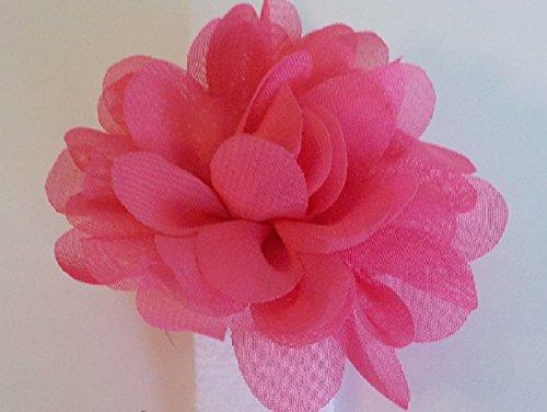Picture of Petite Medium Pink Nylon Flower Bow Dog Collar Accessory