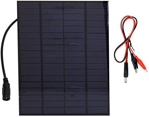 Dgtrhted Hohe Qualität 5W 18V Photovoltaik polykristallines Silizium Solar Panel 12V Solar-Ladegerät