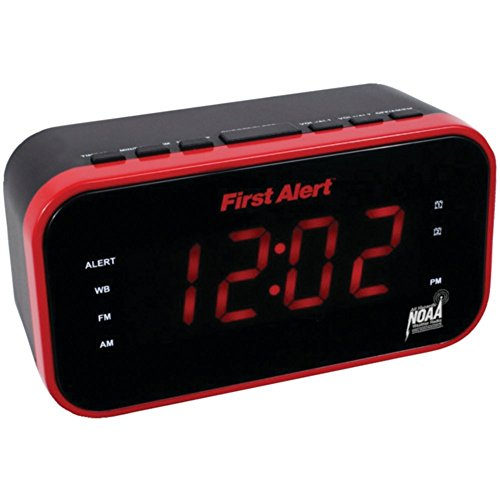 FIRST ALERT SFA150 AM/FM Weather Band Clock Radio with Weath