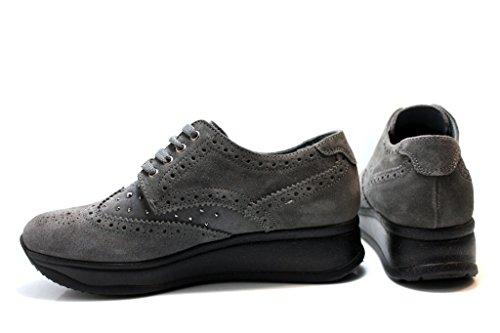 liu jo - Zapatillas de ante para mujer gris
