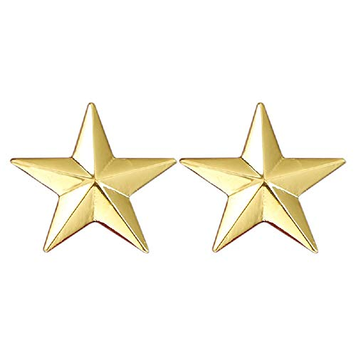 (MISSU JEWELRY Five-Pointed Star Lapel Pin Collar Corner Mens Suits Shirts Pentagram Brooch Badge Clips (Gold))