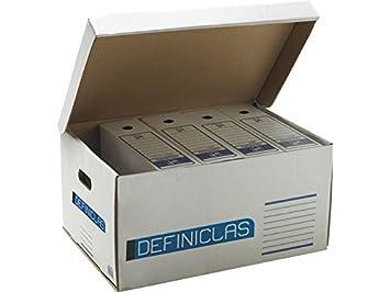 Uni System Definiclas - Pack de 5 contenedores: Amazon.es: Oficina y papelería