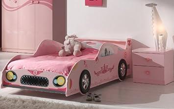Traumhaftes Mädchenzimmer pink lackiert Autobett Nachttisch ...
