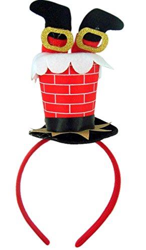 Santa Claus Chimney Christmas Holiday Party (Plush Santa Chimney Hat)