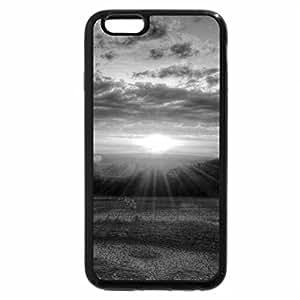 iPhone 6S Plus Case, iPhone 6 Plus Case (Black & White) - MORNING SUNBURST