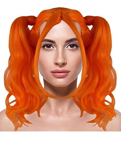 Blonde Dolly Pigtail Wig - Pumpkin Orange HW-366 ()