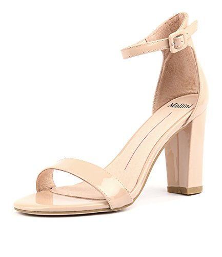 Shoes MOLLINI Huey Heels High NUDE PATENT Womens LEATHER Sandals qHHzwE