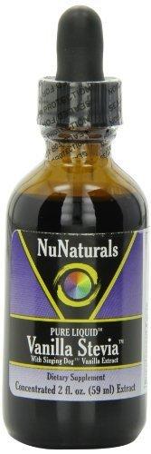 NuNaturals Pure Liquid Vanilla Stevia, 2 Ounces (8-Pack)