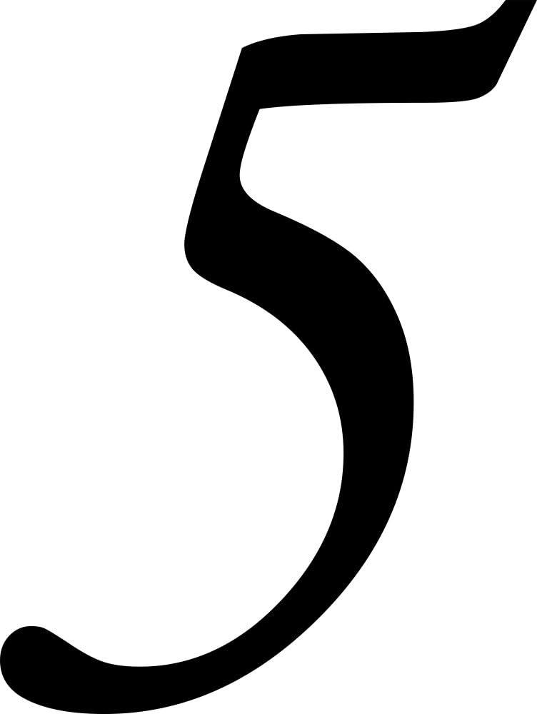 Aufkleber f/ür den Aussenbereich Selbstklebende Hausnummer Zahlen Kleben statt Bohren Ziffer 5 10 cm hoch schwarz