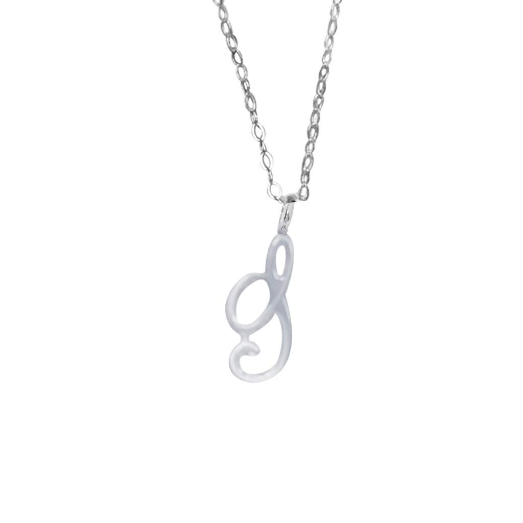 Necklaces for Women,Leewos Ladies 26 Alphabet Classic Necklace Female Initials Simple Clavicle Chain Pendant Necklace Jewelry Gift SLV