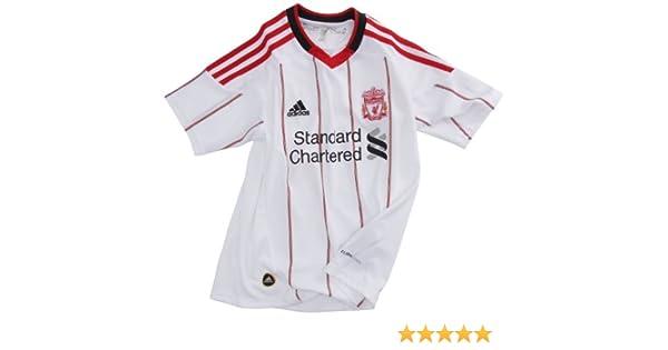 adidas LFC A JSY Y Exterior del Liverpool FC-Camiseta de fútbol para niño, Color Blanco Y Rojo: Amazon.es: Ropa y accesorios
