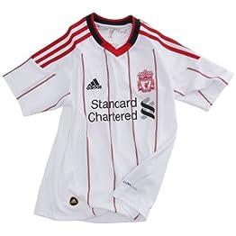 adidas Lfc A Jsy Y Liverpool FC Maillot extérieur Football Garçon Blanc / Rouge