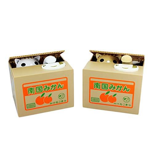 Blanc-1 Taille ZengBus Tirelire Chat Vol/é Argent Pi/èce /Économique Bo/îte /À Cadeau Cadeau /À Batterie Cadeau Tirelire Parfaite pour la Maison et Les Bureaux