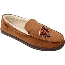 NFL Mens Beige Team Logo Moccasin Slippers Shoe