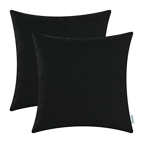 Pack-of-2-CaliTime-Throw-Pillow-Covers-High-Class-Faux-Linen-Solid-Color