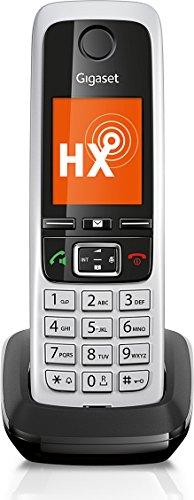 Gigaset C430HX Dect-Schnurlostelefon (zusätzliches Universal-Mobilteil, für Dect-Telefonbasisstationen und Router mit DECT oder DECT-CATiq, 4,6cm (1,8 Zoll) TFT-Farbdisplay, Komfort-Freisprechen) schwarz /silber
