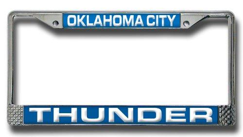 NBA Oklahoma City Thunder Laser Cut Chrome Plate - Mall Oklahoma City