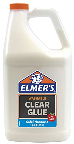 Elmer's Liquid School Glue, Premium Clear, Washable, 1 Gallon, 1 Count - Great For Making Slime