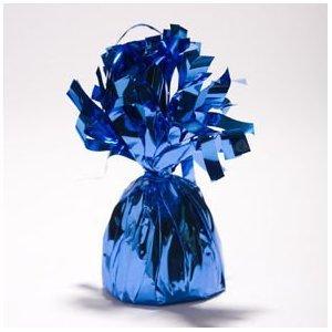 12 Blue Metallic Balloon Weights - Balloons & Balloon Accessories