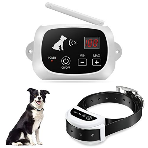 FOCUSER Electric Wireless Dog Fence System, Pet Containment System for Dogs and Pets with Waterproof and Rechargeable Training Collar Receiver Boundary(with 20 Flags)