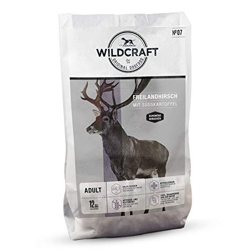Wildcraft – 12 kg – Trockenfutter für Hunde – getreidefrei – Freilandhirsch mit Süßkartoffel – Monoprotein – Hoher…