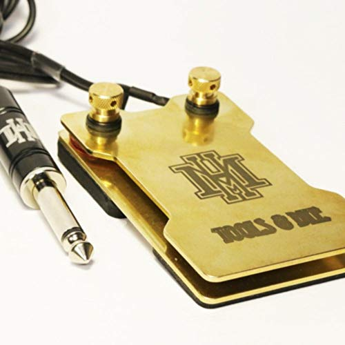 Small 2-Plate Brass Tattoo Foot Pedal by HM Tools & Dye ()