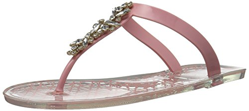 Badgley Mischka Jewel Women's Gracia Flat Sandal, Pale Pink, 10 Medium US by Badgley Mischka