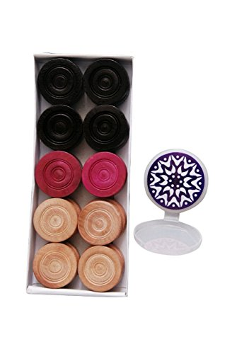 Carrom Coins & Carrom Striker-(Combo Pack) by Unknown