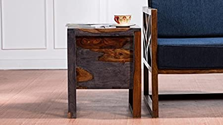 Made Wood Rajputana Solid Rosewood Home Bar Furniture (Brown, 18 x 18 x 22)